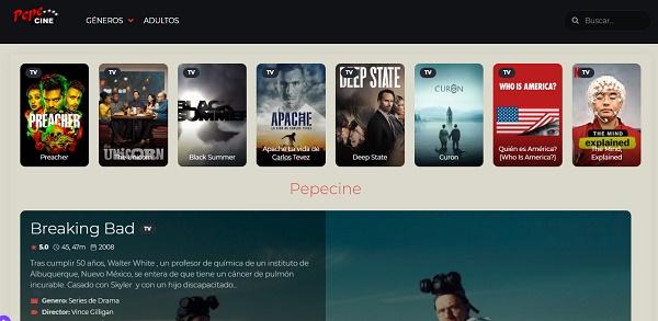 PepeCine como página alternativa a MegaDede