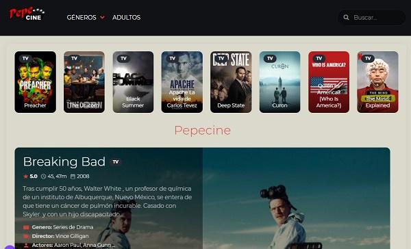 PepeCine como página alternativa a Series Danko