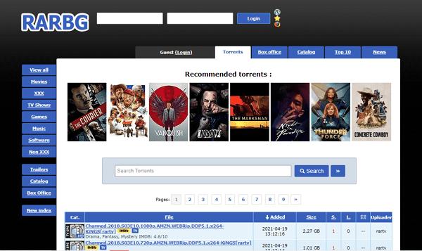 RARBG.to como página alternativa a DonTorrent