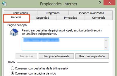 Recomendaciones para mejorar el rendimiento del navegador usando las opciones de Internet paso 4