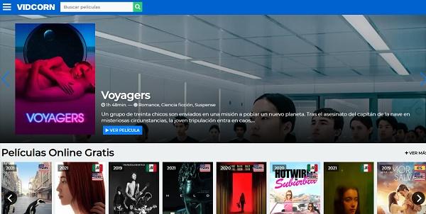 VidCorn como página alternativa a Series Papaya