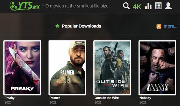 YTS como página alternativa a DonTorrent
