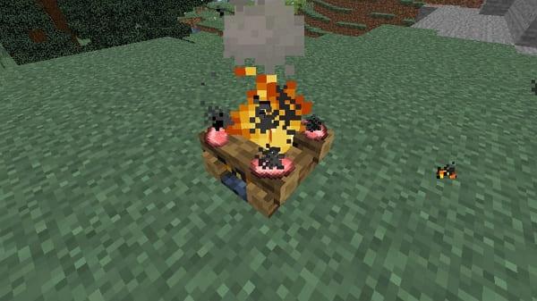 Cómo craftear una fogata en Minecraft para cocinar
