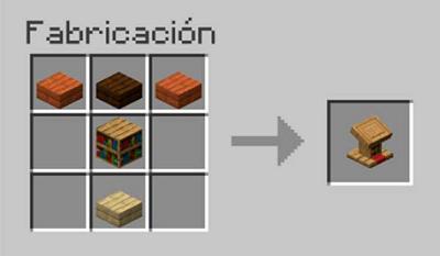 Cómo crear un atril en Minecraft