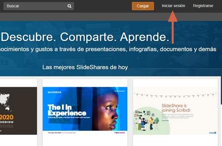 Cómo descargar presentaciones de SlideShare desde su página web paso 1