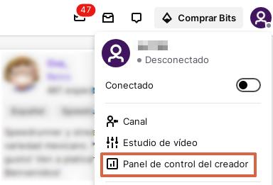 Cómo encontrar la clave de transmisión en Twitch en el panel de control de usuario paso 2