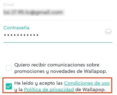 Cómo registrarse o crear una cuenta en Wallapop desde el celular usando la app móvil paso 5