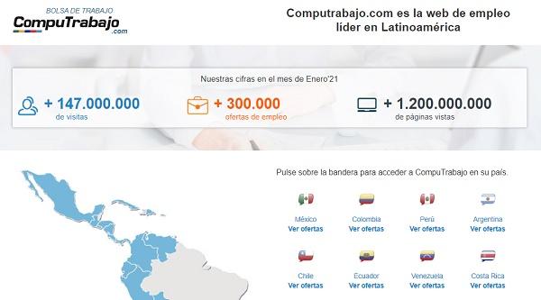 CompuTrabajo como página web para buscar y conseguir empleo en Internet