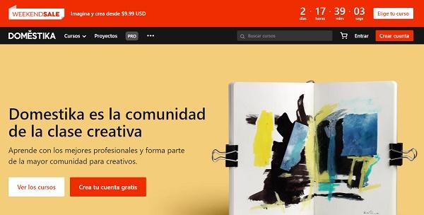 Domestika como página web para buscar y conseguir empleo en Internet