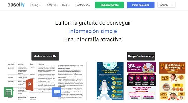 Easelly como página web para hacer o crear infografías