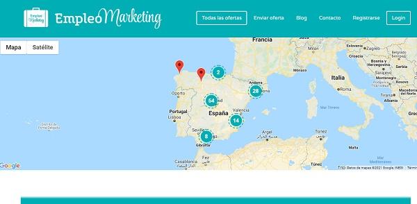Empleomarketing como página web para buscar y conseguir empleo en Internet