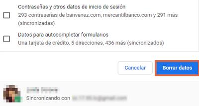 Error ERR_EMPTY_RESPONSE en Google Chrome cómo solucionarlo borrando el historial de navegación paso 6