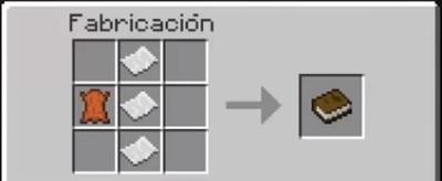 Fabricación de libro en Minecraft