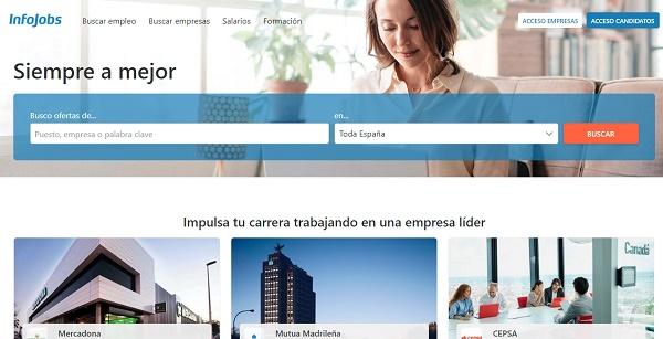 InfoJobs como página web para buscar y conseguir empleo en Internet