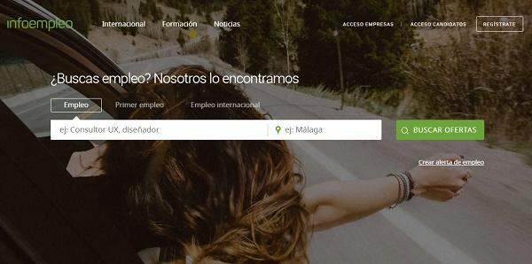 Infoempleo como página web para buscar y conseguir empleo en Internet