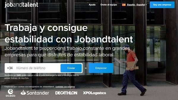 Jobandtalent como página web para buscar y conseguir empleo en Internet