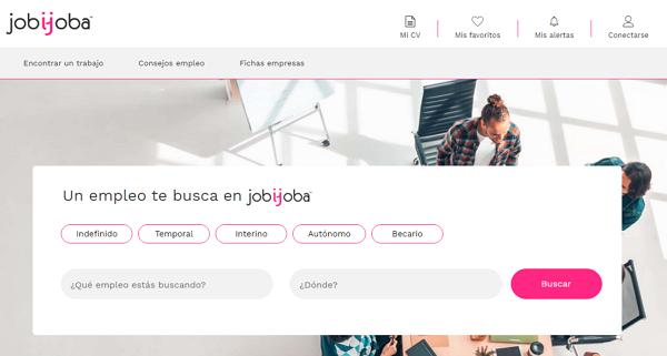 Jobijoba como página web para buscar y conseguir empleo en Internet