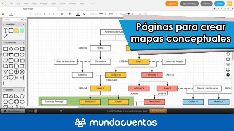 Las 15 mejores páginas web para hacer o crear mapas conceptuales