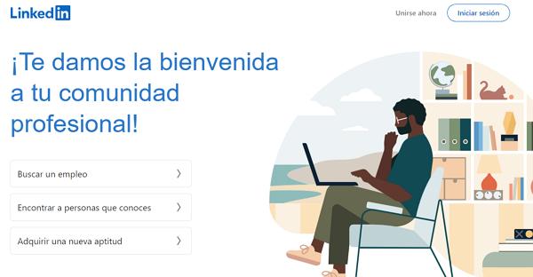 LinkedIn como página web para buscar y conseguir empleo en Internet