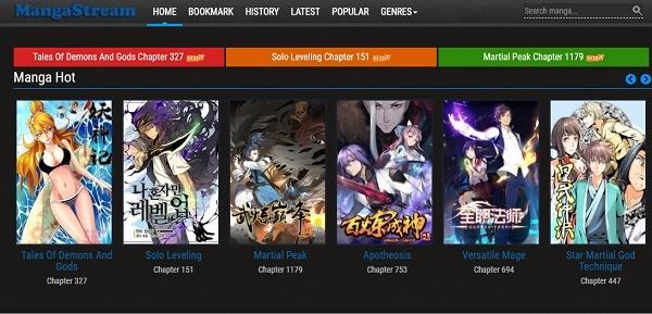 MangaStream como página web para leer manga en Internet