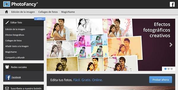 PhotoFancy como programa para editar fotos