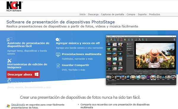 PhotoStage Slideshow Software como programa para editar fotos
