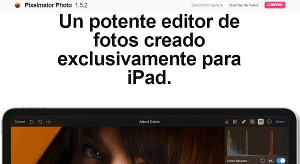 Pixelmator como programa para editar fotos