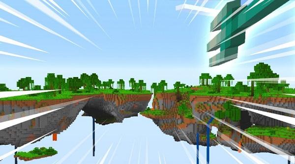 Propulsión acuática en Minecraft