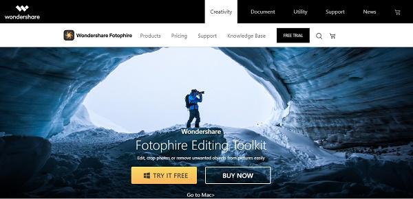 Quitar la marca de agua de una imagen con Fotophire Editing Toolkit