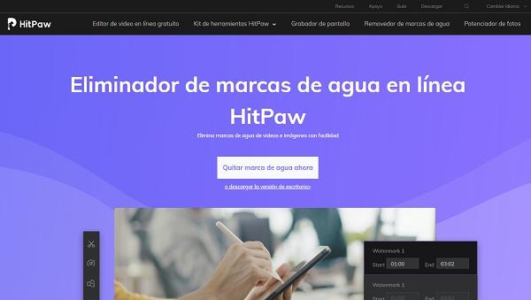 Quitar la marca de agua de una imagen con HitPaw Watermark Remover