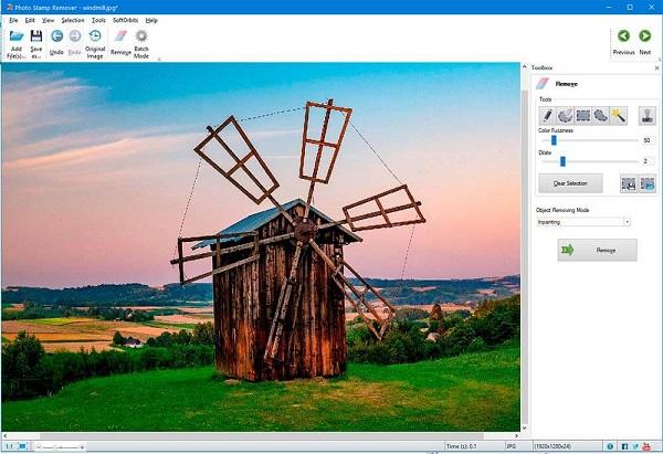 Quitar la marca de agua de una imagen con Photo Stamp Remover