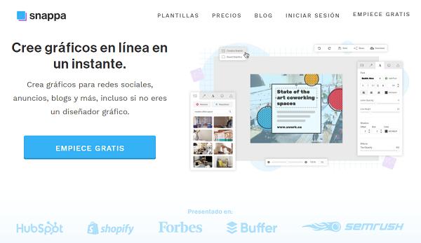 Snappa como página web para hacer o crear infografías