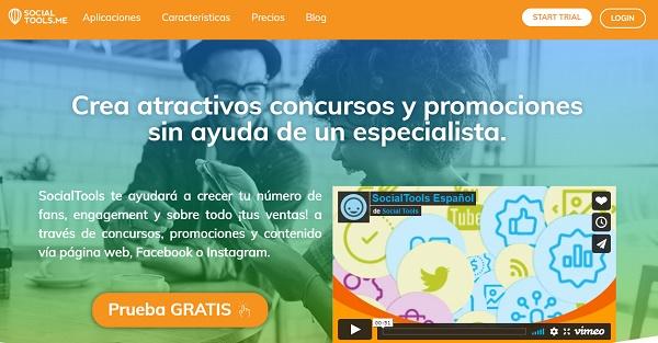 SocialTools como página web para hacer o realizar sorteos