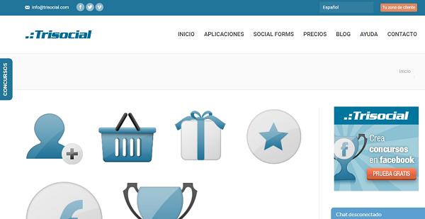 Trisocial como página web para hacer o realizar sorteos