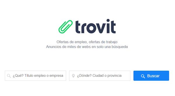 Trovit Empleo como página web para buscar y conseguir empleo en Internet