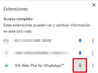 Truco para ocultar el en línea en WhatsApp a través de una extensión para WhatsApp Web. Paso 4