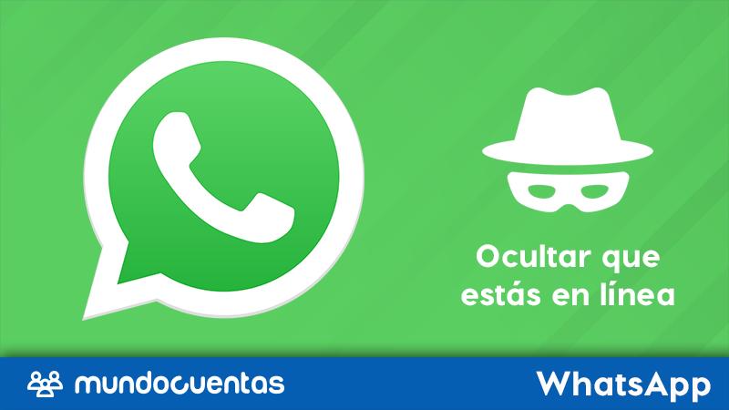 Truco para ocultar el en línea en WhatsApp