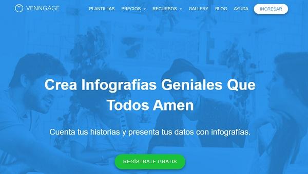 Venngage como página web para hacer o crear infografías