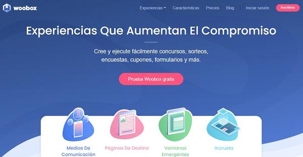 Woobox como página web para hacer o realizar sorteos