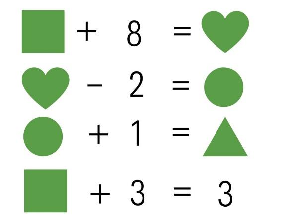 Calcular el valor de las figuras. Juego para enviar por WhatsApp