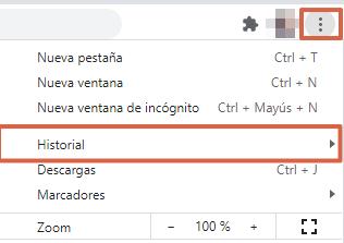 Cómo borrar los correos guardados en Facebook al iniciar sesión. Desde Chrome. Paso 1
