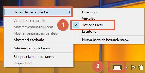 Cómo colocar o poner emojis en el teclado de tu ordenador en Windows 8 pasos 1 y 2