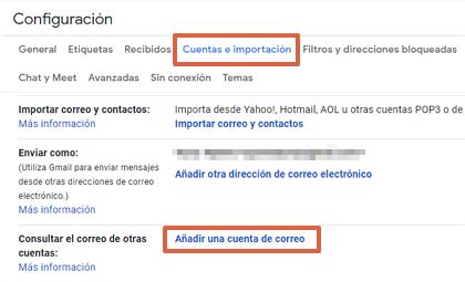 Cómo consultar un correo corporativo desde tu cuenta de Gmail paso 4