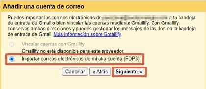 Cómo consultar un correo corporativo desde tu cuenta de Gmail paso 6