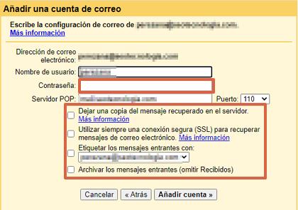 Cómo consultar un correo corporativo desde tu cuenta de Gmail paso 7