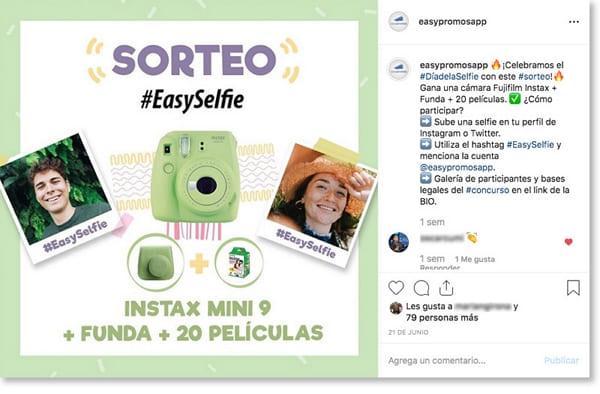 Cómo crear tu propio concurso en Instagram