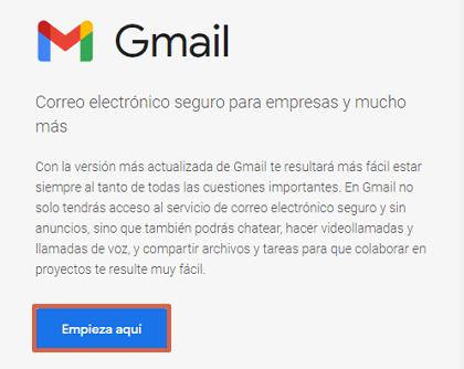 Cómo crear un correo corporativo Gmail gratis desde Google Workspace paso 1