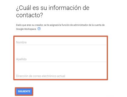 Cómo crear un correo corporativo Gmail gratis desde Google Workspace paso 3