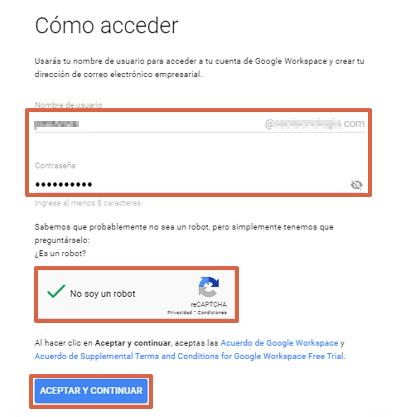 Cómo crear un correo corporativo Gmail gratis desde Google Workspace paso 8