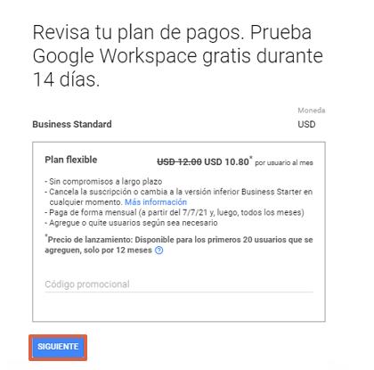 Cómo crear un correo corporativo Gmail gratis desde Google Workspace paso 9